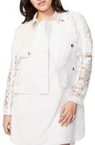 Rachel Roy Plus Size Women's Crop Lace Trench Jacket