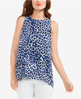 Vince Camuto Animal-Print High-Low Top