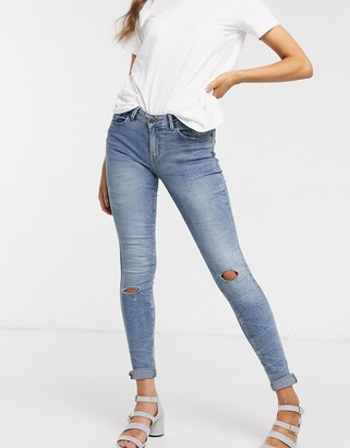JDY Flora regular skinny jeans-Blue