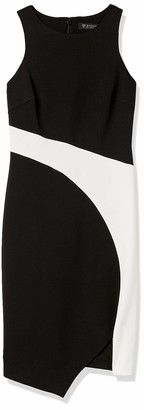 GUESS Women's Asymetrical Color Block Dress