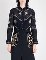 Vilshenko Calina embroidered cotton-voile shirt