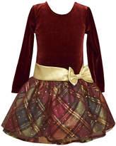 Bonnie Jean Long Sleeve Drop Waist Dress - Preschool Girls