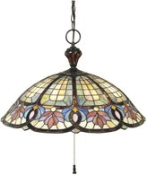 Quoizel TF1618VB Tiffany 15-Inch Pendant with Three Downlights, Vintage Bronz...