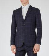 Reiss Bullard B - Tonal Check Blazer in Blue, Mens