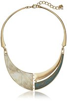 "Robert Lee Morris Neutral Territory"" Mixed Patina and Horn Collar Necklace, 14"" + 2"" Extender"
