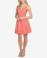 CeCe Jacquard Fit and Flare Dress