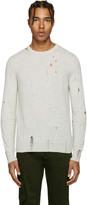 Diesel Grey Distressed K-Ideo Sweater