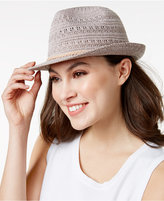 INC International Concepts Crochet Packable Fedora, Created for Macy's