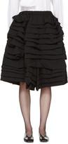 Comme des Garcons Black Ruffle Shorts