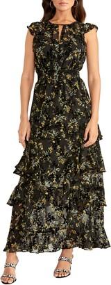 Rachel Roy Issa Floral Burnout Maxi Dress