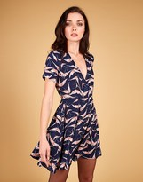 Louche Flamingo Print Wrap Dress