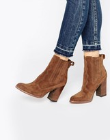 Dolce Vita Conway Suede Stack Heeled Ankle Boots