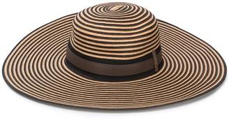Peserico Striped Wide-Brim Hat