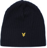 Lyle & Scott New Navy Lined & Ribbed Beanie