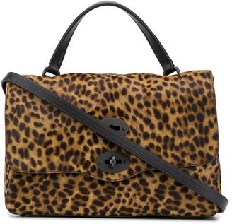 Zanellato Twist-Lock Leopard Print Tote Bag