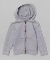 Flap Happy Silver Zip-Up Hoodie - Infant Toddler & Boys