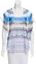 Alexander McQueen Semi-Sheer Printed Top