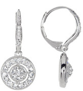 Nadri Circle Drop Crystal Pave Earrings