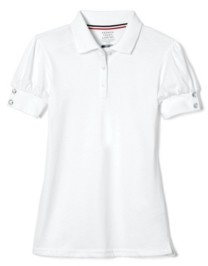 French Toast Little Girls Puff-Sleeve Polo