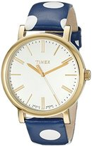 Timex Women's TW2P63500AB Originals Gold-Tone Watch with Polka Dot Leather Band