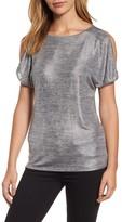 MICHAEL Michael Kors Women's Foil Space Dye Split Sleeve Tee
