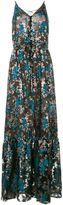 Lanvin floral embroidered evening dress - women - Silk/Polyester/Viscose - 36