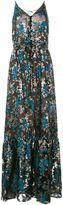 Lanvin floral embroidered evening dress