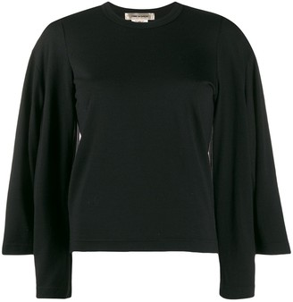 Comme des Garcons knitted double sleeve top