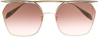 Alexander Mcqueen Eyewear Top-Bar Oversized Sunglasses