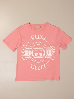 Gucci Cotton T-shirt With Vintage Logo