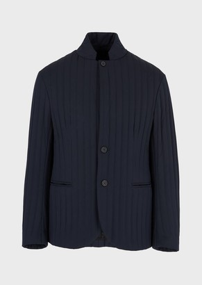 Emporio Armani Jacket In Quilted Fabric