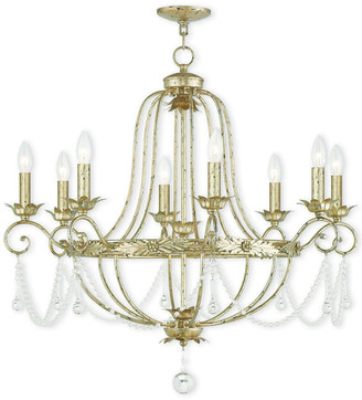 Livex Lighting Livex Sophia 8-Light Winter Gold Chandelier
