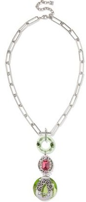 Dannijo Jada Silver-tone Crystal Necklace