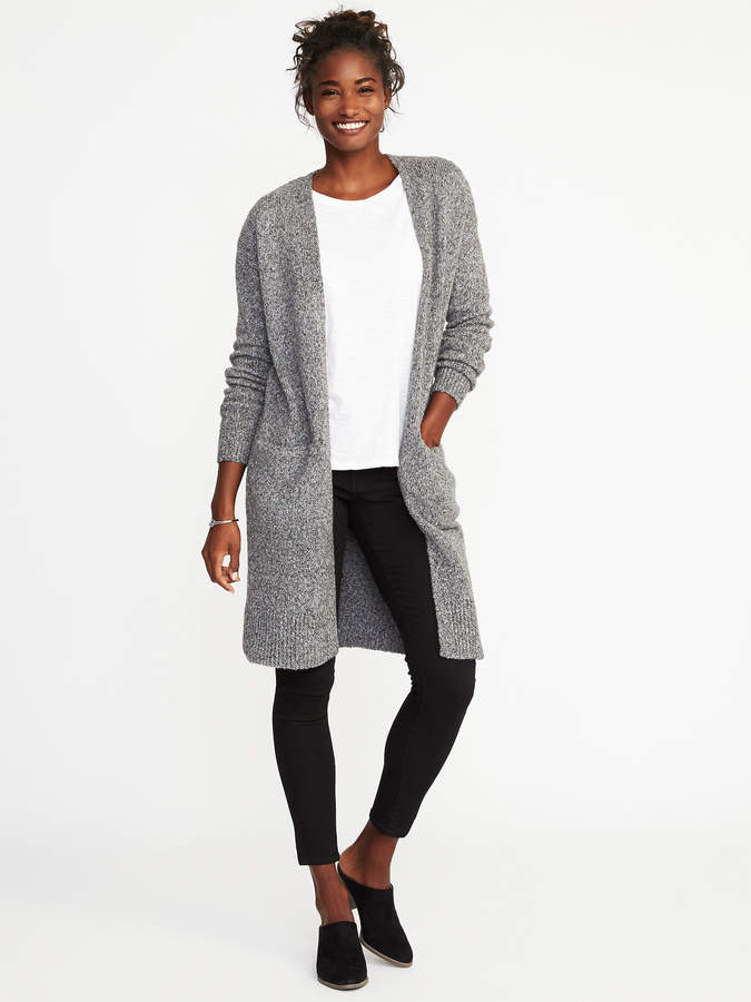 Old Navy Open-Front Bouclé Sweater for Women