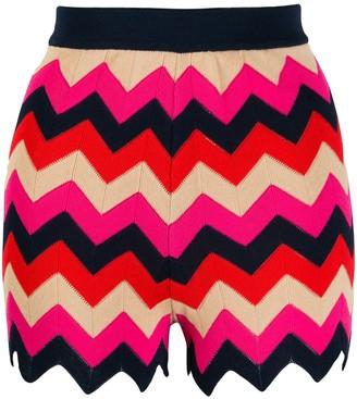 M Missoni Zig-Zag Knit Shorts