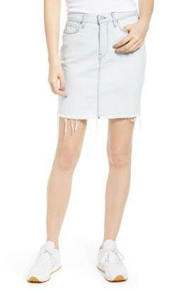 Hudson Jeans Lulu Raw Hem Denim Skirt