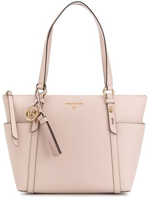MICHAEL Michael Kors Zipped Leather Tote Bag