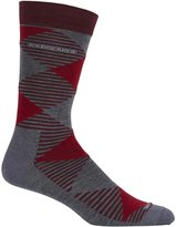 Icebreaker 102839 Men's Lifestyle Fine Gauge Ultra Light Crew Argyle
