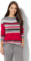 New York & Co. Lounge - Double Fair Isle Sweater