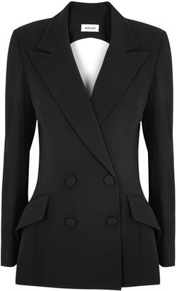 Mônot Black cut-out blazer