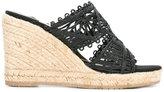 Paloma Barceló wedge sandals - women - Raffia/rubber - 36