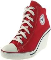 Maxstar 775 Back Zipper Canvas Wedge Heels Shoes 6 US Womens