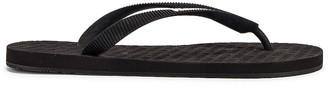 Vetements Classic Logo Flip Flops in Black | FWRD