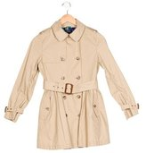 Polo Ralph Lauren Girls' Double-Breasted Trench Coat