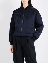 Diane von Furstenberg Oversized satin bomber jacket