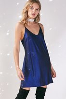 Silence & Noise Silence + Noise Iridescent Mini Slip Dress