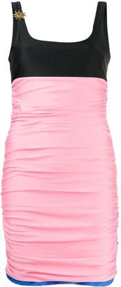 Fausto Puglisi Panelled Logo Pin Dress