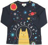Paul Smith Space Cat Print Cotton Jersey T-Shirt