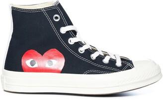 Comme des Garcons X Converse All Star Big Heart Hi-Top Sneakers