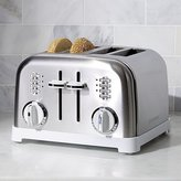 Crate & Barrel Cuisinart ® Classic 4-Slice White/Brushed Stainless Steel Toaster